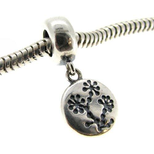 Queenberry argento Sterling Cancro al seno consapevolezza fiori per braccialetti