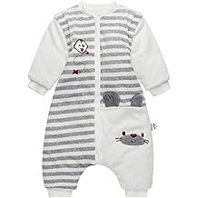 Bebé Saco de Dormir con Piernas Separable Algodón 3.5 Tog Invierno Bolsa de Dormir Mangas Larga
