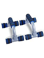 Push Up Bares press-up Stands I-Type asas antideslizantes con mangos de espuma fitness enquipment gimnasio casa entrenamiento muscular herramientas, azul