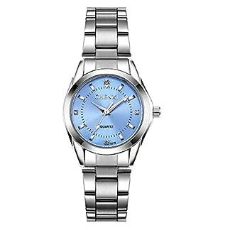 Frauen-Uhren-Casual-Fashion-Wasserdicht-Uhren-Diamant-Strass-Handgelenk-Quarz-Armbanduhr–hellblau