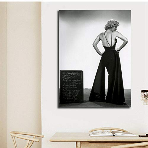 in einem Low Back Abendkleid Poster auf Leinwand Wandkunst Malerei Moderne Dekorative Bild Home Decor80x100cm -
