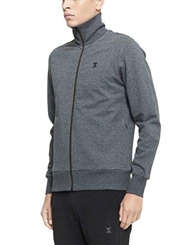 One piece High Neck Zip Out, Sweatshirt Sportswear Femme Gris - Grau (Nep Dark Grey)
