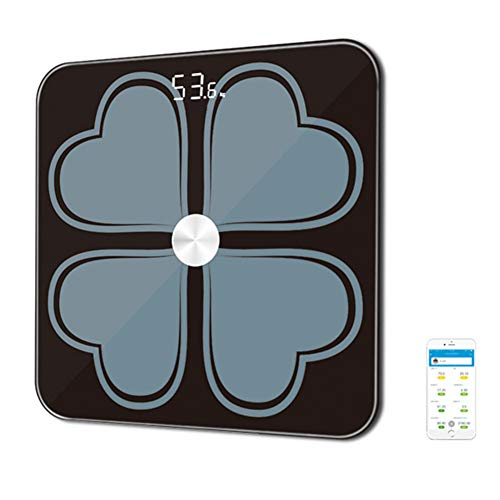 WANGOFUN Bluetooth Fat Scale, Smart Digital Weight Body Composition Monitor Analyzer Smartphone Free App Use for Measures Body Composition Metrics