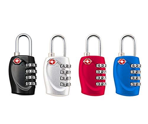 Cerraduras de combinación de 4 dígitos de JYHY® TSA, candados resistentes y de alta seguridad, para equipaje, maletas, bolsos de viaje y casilleros de gimnasio,paquete de 4