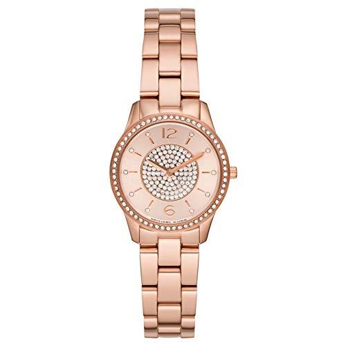 Michael Kors Damen Analog Quarz Uhr mit Edelstahl Armband MK6619