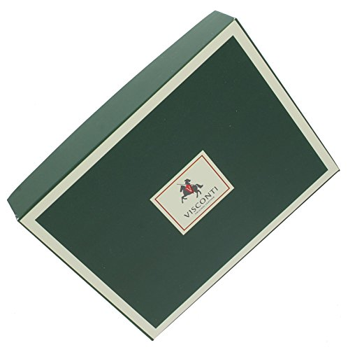 Portafoglio da Donna Compatto con Chiusura a Linguetta in Pelle Visconti Collezione Heritage SOHO HT31 Fucsia Nero