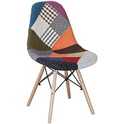 NAKURA - Silla de comedor Patchwork, Inspiracion silla Tower de Eames
