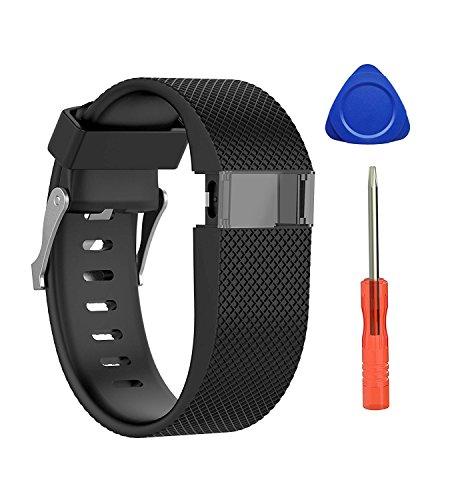 Neueste Fitbit Charge HR Armband, BeneStellar Einstellbare Silikon Ersatz Kleine Große Band Armband Strap für Fitbit Charge HR Wireless Activity Wristband