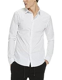 Scotch & Soda Herren Freizeithemd Classic Longsleeve Shirt in Cotton/Elastane Quality