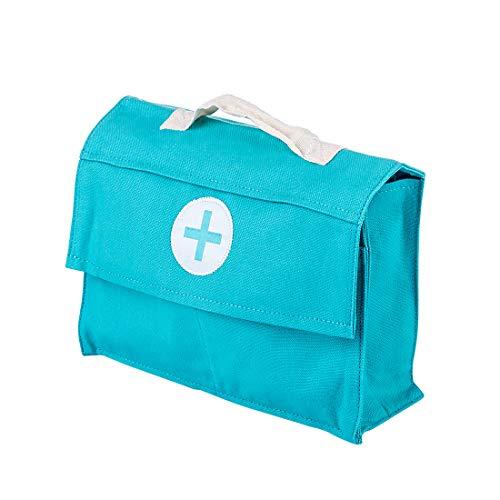 Yavso Doctors Set for Kids Wooden, 18Pcs Wooden Childrens Doctors Set Medical Carrycase Doctors Kit Wooden Dentist Role Play Toys Gift for Boy Girls 3 +