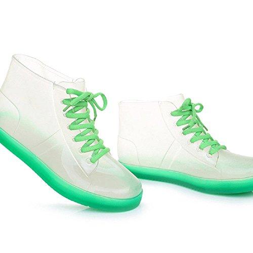 Estate Adulto Trasparente Stivali da pioggia Antiscivolo Impermeabile Stivali da pioggia transparent green