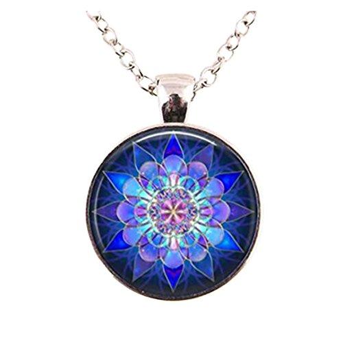 Cristal Collar Colgante Mandala Mandala collar cúpula de cristal collar vintage