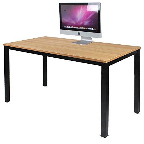 DlandHome Escritorios Mesa de Ordenador 120x60cm Escritorio de Oficina Mesa de Estudio...