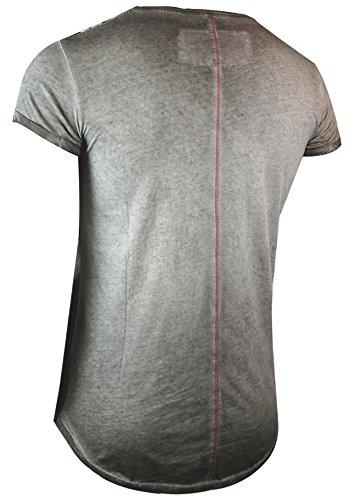 trueprodigy Casual Herren Marken T-Shirt mit Aufdruck, Oberteil cool und stylisch mit Rundhals (kurzarm & Slim Fit), Shirt für Männer bedruckt Farbe: Dunkelgrau 1063124-5203 Dark Grey