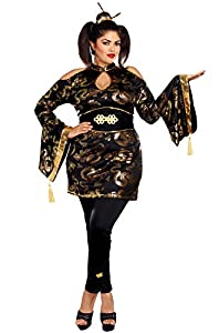 DreamGirl-10652X Golden Geisha disfraz, 3x -Large