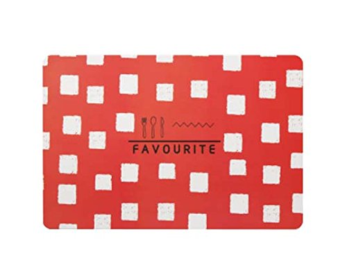 Multifunktionale Tischmatte Kleine frische Tischmatten, schöne Auflage, rote Schachtel