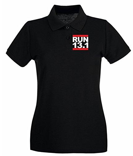T-Shirtshock - Polo pour femme OLDENG00631 run 131 Noir