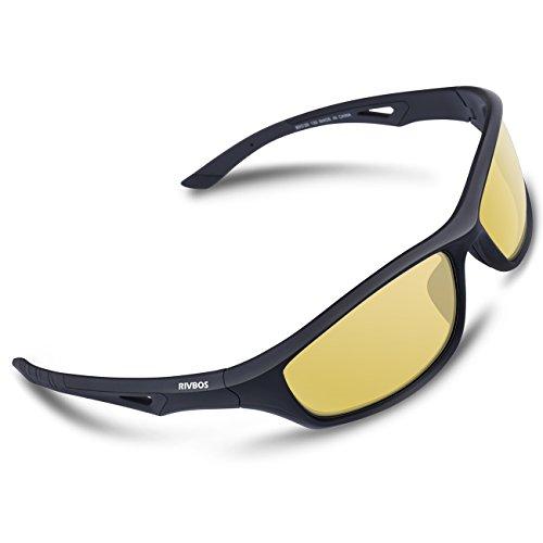 RIVBOS TR90 Polarisierter Sportbrille Sport Sonnenbrille für Herren und Damen Skifahren Golf...