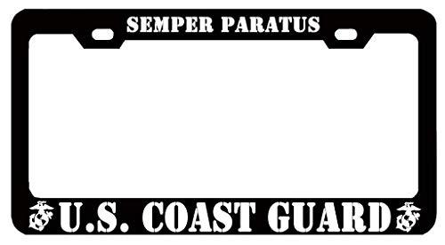 Superlicenseframe Nummernschildrahmen Aluminium Metall Custom Kennzeichenrahmen für Frauen Nummernschildabdeckung für US Auto, Semper Paratus U.S. Coast Guard - Coast Guard License Plate