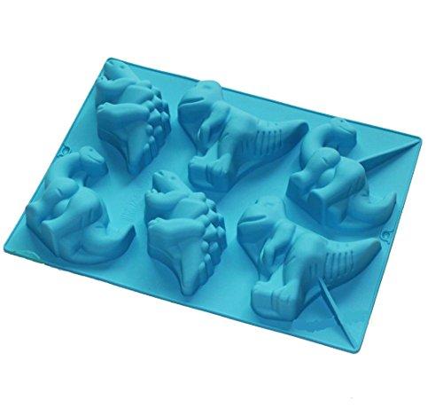 6Mulden Stegosaurus Dinosaurier Form Silikon Backform Kuchen Form Kerze Seife Schokolade Formen - Dinosaurier-kuchen-form