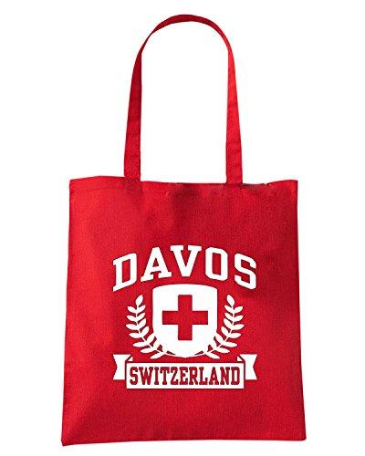 T-Shirtshock - Borsa Shopping TSTEM0229 davos switzerland Rosso