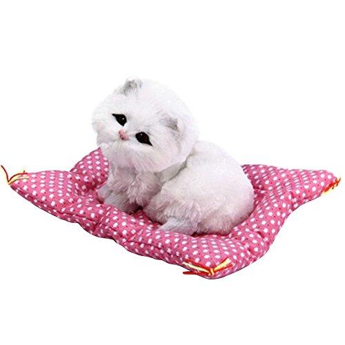globaldeal Direct Lovely Animal Puppe Plüsch schlafende Katzen Spielzeug mit Sound Kinder Geburtstag Geschenk