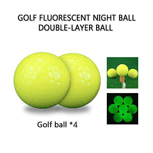 htende Golfbälle Golf Double-Layer Bright Night Ball für Nachtübungen Langstrecken und Distanzschüsse (Grün) ()