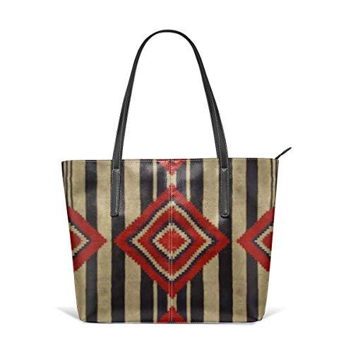 xcvgcxcbaoabo Mode Handtaschen Einkaufstasche Top Griff Umhängetaschen Native American Leather Tote Large Purse Shoulder Bag Portable Storage HandBags Convenient Shoppers Tote