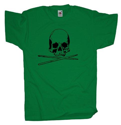 Ma2ca - Drummer Skull - T-Shirt Kelly