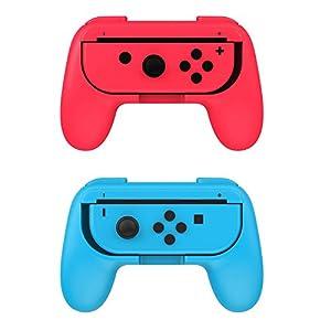 jadebones 2Pack Nintendo Schalter Joy-Con Grip Griffe, verschleißfest Joy-Con Griff für Nintendo Schalter Schwarz
