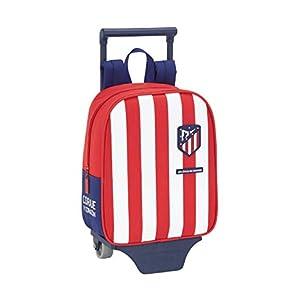 Mochila Guardería de Atlético de Madrid Oficial con Carro Safta, 220x100x270mm