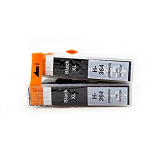 ASTA Ink Cartridge 364XL (2-Pack Black) High Yield Compatible for HP Photosmart 5510 5511 5512 5514 5515 5520 5522 5524 6510 6520