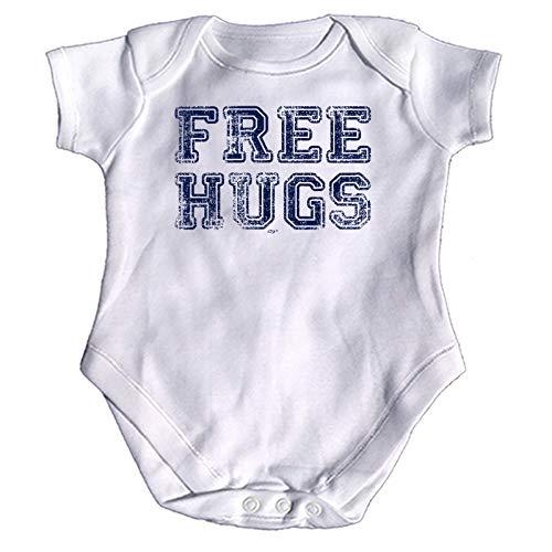 123t Lustiger Baby-Strampler - Jumpsuit Strampelanzug, Geschenk Neuheit Babybody Brand 991 Gr. 12-18 Monate, Free Hugs Distressed Baby - Baumwolle Distressed-strampelanzug