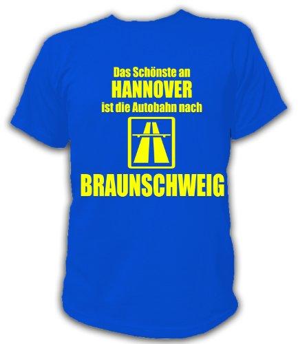 Artdiktat T-Shirt Anti Hannover T-Shirt Unisex, Größe XL, blau