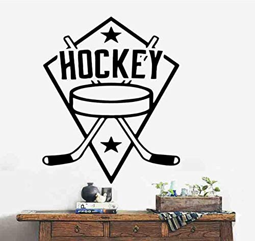 Kreuz Hockey Gym Sofa Hintergrund Dekoration Entfernbarer Wandaufkleber 57 * 89 Cm -