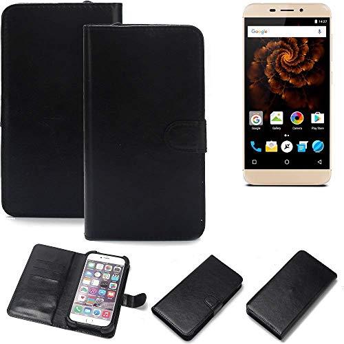 K-S-Trade Wallet Case Handyhülle Allview X4 Soul Mini Schutz Hülle Smartphone Flip Cover Flipstyle Tasche Schutzhülle Flipcover Slim Bumper schwarz, 1x