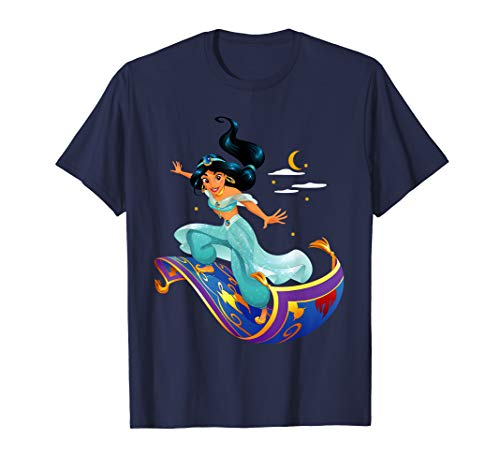 Disney Aladdin Princess Jasmine Magic Carpet Pose T-Shirt -