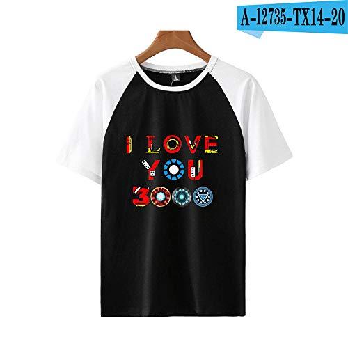 T-Shirt Mit Vielseitigen Schultern Ich Liebe Dich 3000 Mal Mit Kurzen Ärmeln 13-S