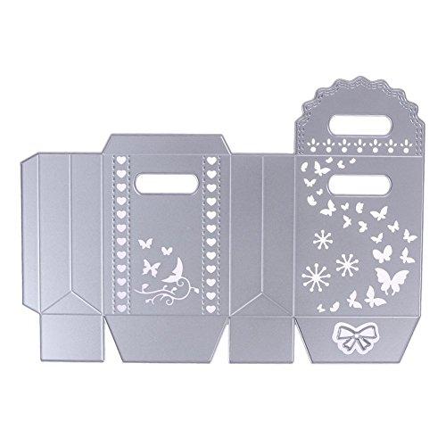 Stanzformen Set Metall Präge Schablonen für DIY Handwerk Stempel Album, Bowknot Candy Geschenkbox Butteryfly