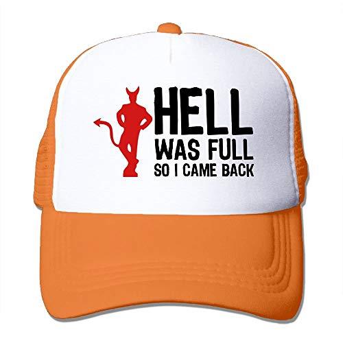 Hell was Full - So I Came Back (2c) Big Foam Sunhat Mesh Back Adjustable Cap Camo Full Back Cap