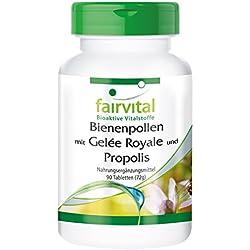Bienenpollen mit Gelée Royale und Propolis - für 45 Tage - HOCHDOSIERT - 90 Tabletten