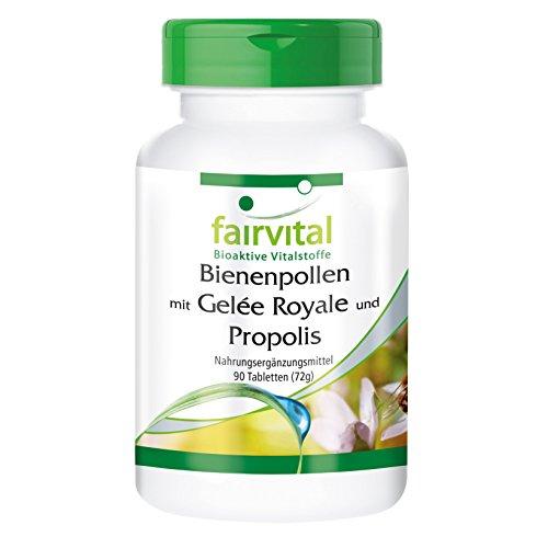 Bienenpollen mit Gelée Royale und Propolis - 90 Tabletten - Synergetische Kombination von Bienenpollen-Extrakt, Propolis-Extrakt und Gelée Royale Extrakt