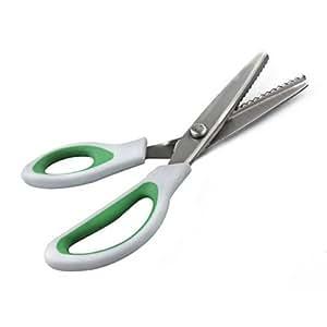 Ciseaux à cranter professionnel couture crafts zig zag cut scissors vert