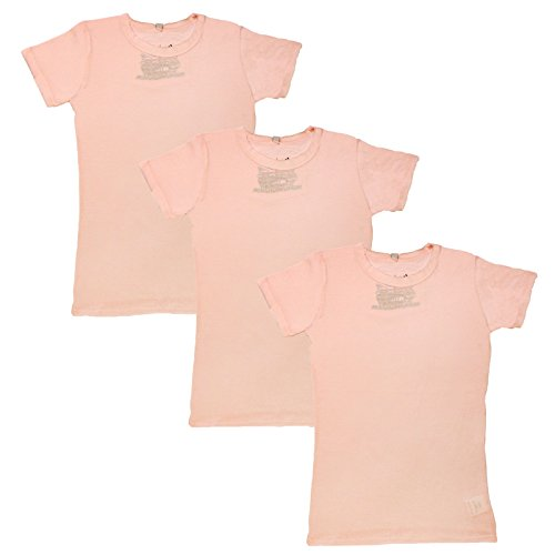 Girls 100% Cotton Baby Pink T-shirts Age 7-13 Years Pack Of 3