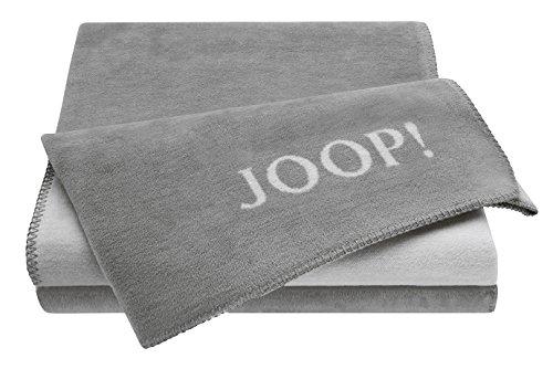 Joop! Wohndecke Uni-Doubleface - Graphit-Rauch Größe: 150 x 200 cm