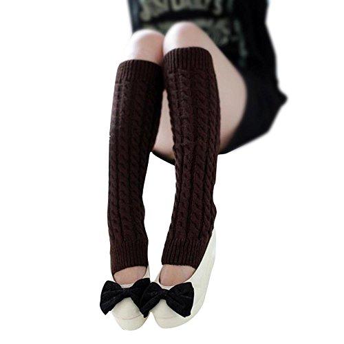 TEBAISE Damen Mädchen Beinwärmer Stulpen Legwarmers Strümpfe Kniestrümpfe -