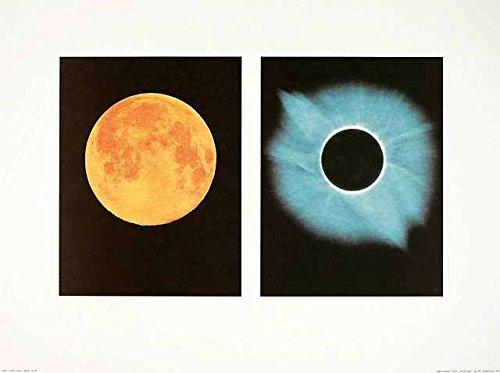 Shigemi Numazawa Full Moon Total Solar Eclipse Poster Kunstdruck Bild 60x80cm - Germanposters Solar Eclipse-poster