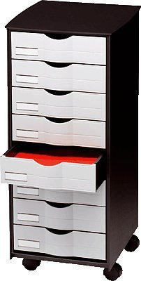 Affordable Mobile Unit 8 Drawer roulettes-couleur: Black/Grey Discount
