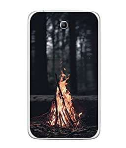 PrintVisa Designer Back Case Cover for Samsung Galaxy Tab 3 (8.0 Inches) T310 T311 T315 LTE (Superb Hot camp fire dark black Evening)
