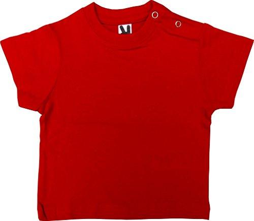 Baby T-Shirt Rundhals, Kurzarm, 6564, Rot, Gr. 24M (2)